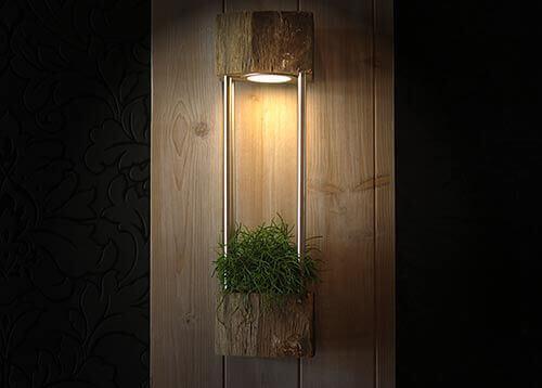 Altholzwandlampe