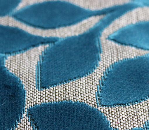 Stoffe Blütenmuster blau