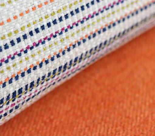 Stoffe Muster und Orange