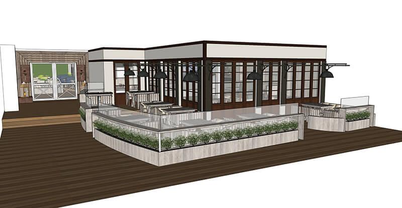 Terrassenkonzept Restaurant Am Strom
