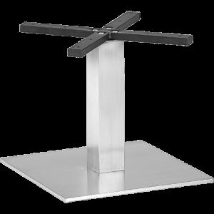 ITG Tischgestell Edelstahl gebürstet niedrig