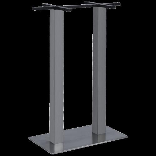 itg1014 2h tischgestell doppels ule edelstahl geb rstet hoch gastro elements. Black Bedroom Furniture Sets. Home Design Ideas
