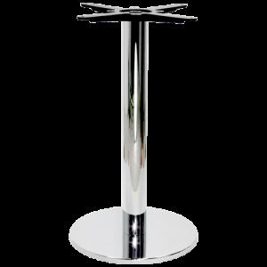 Tischgestell verchromt rund