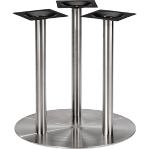 ITG Tischgestell verchromt drei Säulen