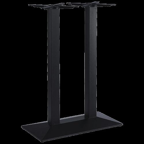 ITG Tischgestell Gusseisen Doppelsäule Trapezboden hoch