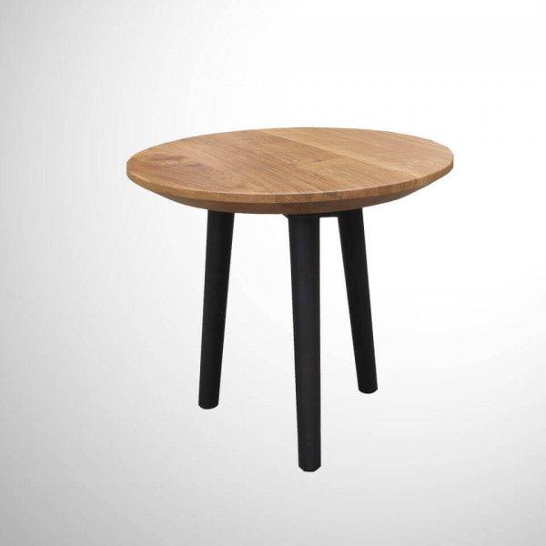 ITG4006_Loungetisch_Tischplatte_Abgeschrägte-Kante_beine-rund-gedrechselt_Beine-konisch_Kante-filigran_leichte-Optik_Eiche